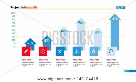 Bar chart slide template. Business data. Graph, diagram, design. Creative concept for infographic, templates, presentation, report. Can be used for topics like analysis, accounting, finance.