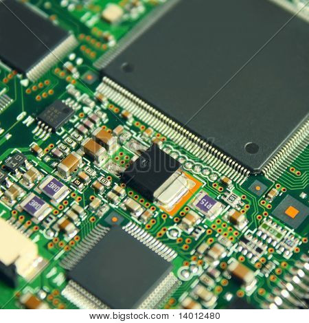 Electronic components on board
