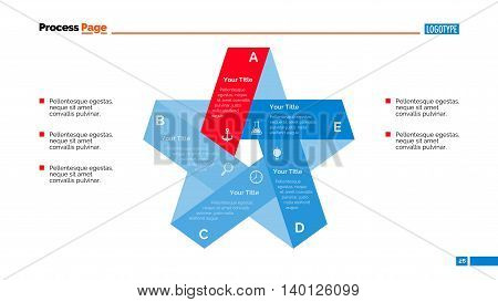 Process chart slide template. Business data. Graph, diagram, design. Creative concept for infographic, templates, presentation, report. Can be used for topics like planning, management, teamwork.