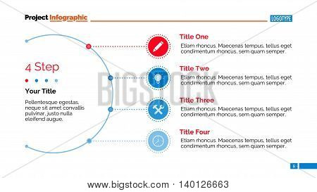 Process chart slide template. Business data. Graph, diagram, design. Creative concept for infographic, templates, presentation, report. Can be used for topics like teamwork, production, planning.