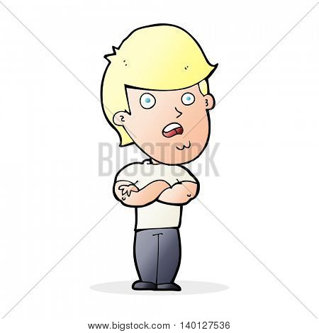 cartoon disappointed man