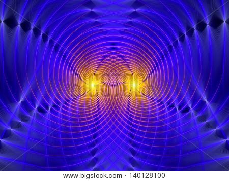 Gravitational wave interference computer generated abstract background
