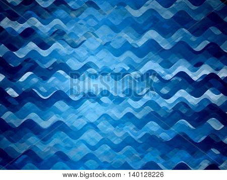 Blue glowing wavy texture computer generated abstract background