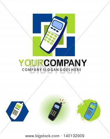 Telecommunications logo design isolated on white background
