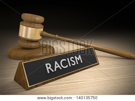 Laws against racism and discrimination, or other forms of prejudice, 3D rendering