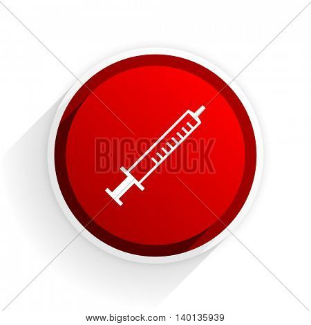 medicine flat icon with shadow on white background, red modern design web element
