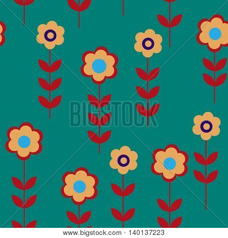 The flower seamless pattern with a daisies