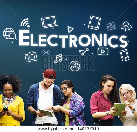 Digital Innovate Electronics Network Concept