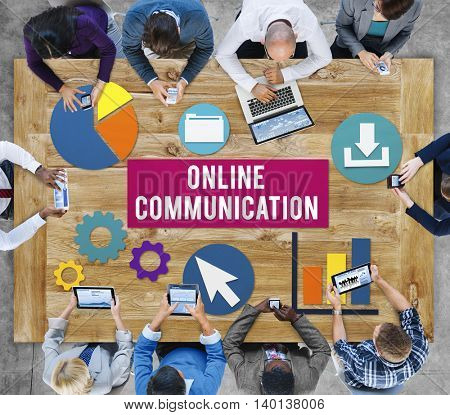 Online Communication Networking Connect Concept