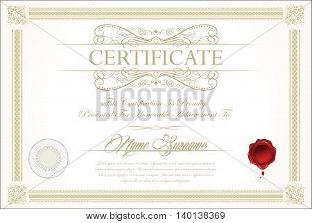 Certificate Or Diploma Template 7.eps