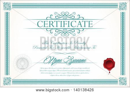 Certificate Or Diploma Template 3.eps