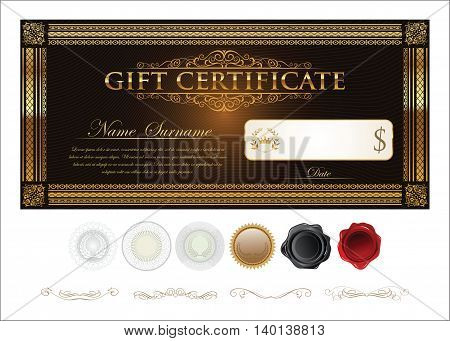 Gift Certificate Retro Vintage Template.eps