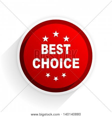 best choice flat icon with shadow on white background, red modern design web element