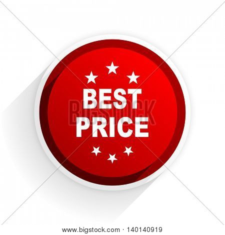 best price flat icon with shadow on white background, red modern design web element