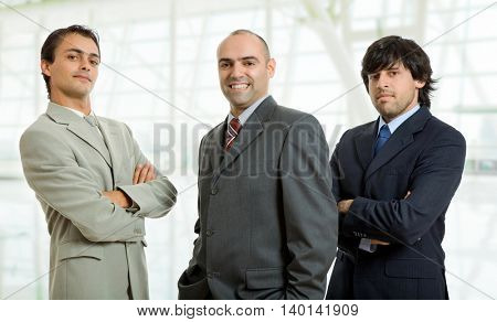 three businessmen at the office