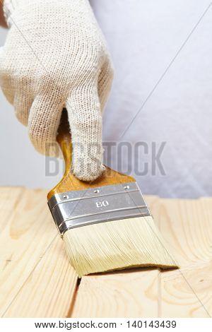 men with brush