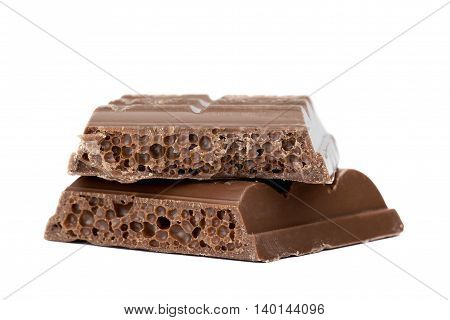 close up image of slices of chocolate bars