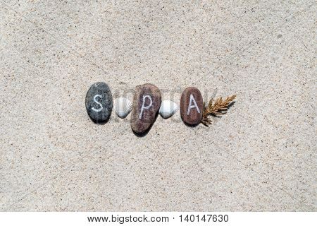 stones on the sand background