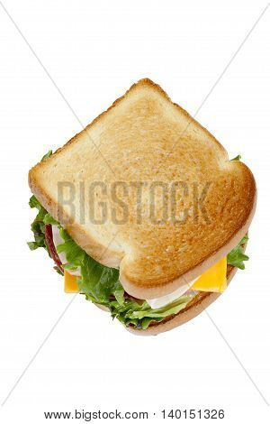 delicious ham sandwich isolated on a white background