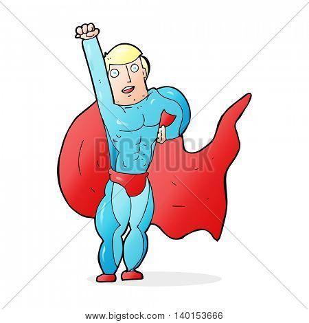 cartoon superhero
