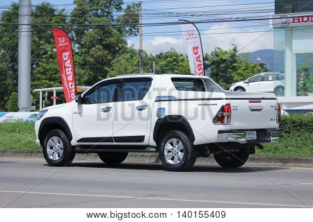 CHIANGMAI THAILAND -JULY 26 2016: Private Pickup car Toyota Hilux Revo Prerunner. On road no.1001 8 km from Chiangmai Business Area.