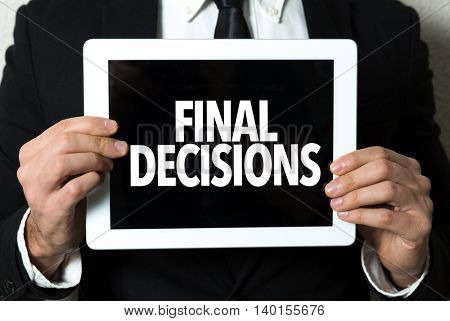 Final Decisions