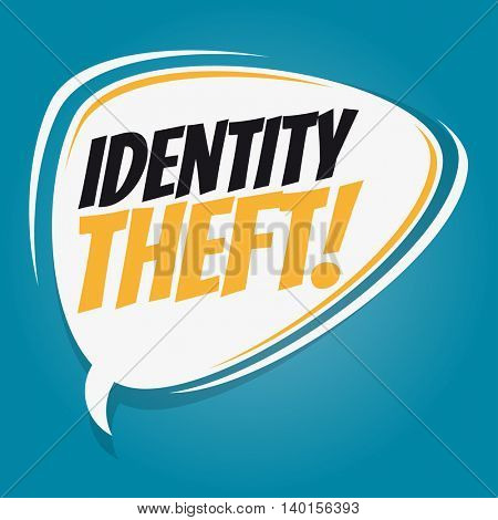 identity theft retro speech balloon