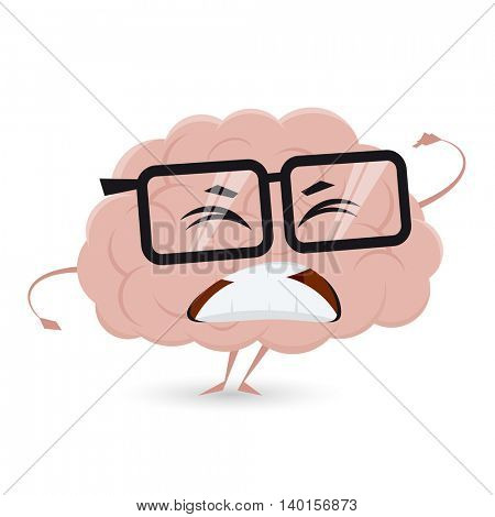 angry brain clipart