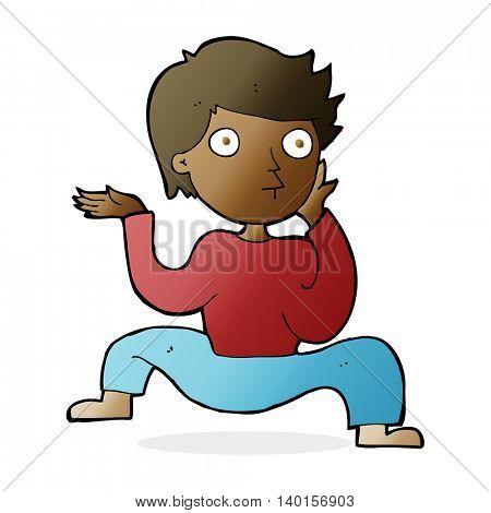 cartoon boy doing crazy dance