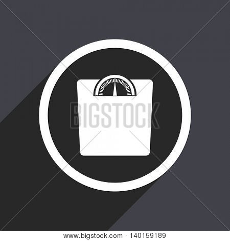 Flat design gray weight vector icon