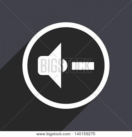 Flat design gray web sound vector icon