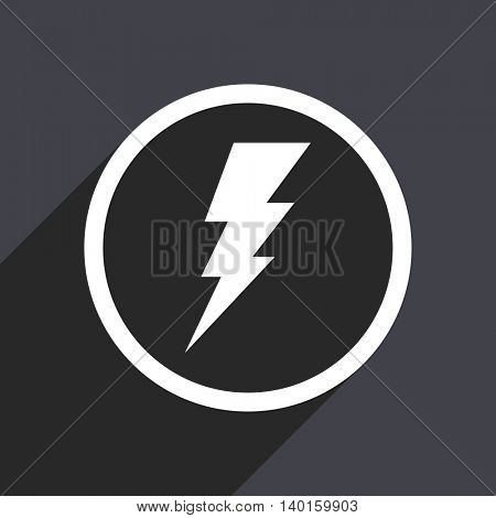 Flat design gray web bolt vector icon