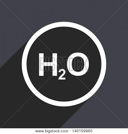 Flat design gray web h2o vector icon