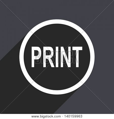 Flat design gray web print vector icon