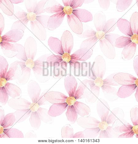 Delicate floral background. Watercolor seamless pattern 5