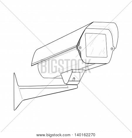 Security camera - vector illustration. Camera cctv, drawing design.