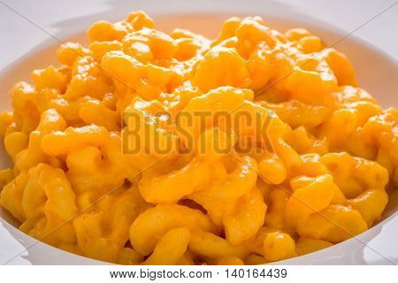 Macaroni and Cheese White Plate Southern classic comfort food.