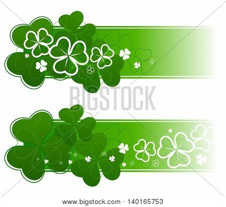 Variation St. Patricks Day decoration. Vector illustration