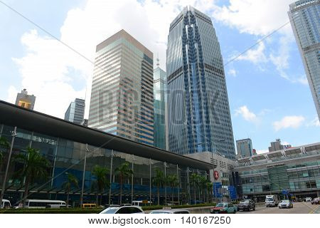 HONG KONG - NOV 9: Hong Kong One International Finance Centre (IFC1), built in 1998, in the Central Hong Kong Island on Nov 9, 2015 in Hong Kong.