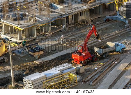 Work On The Construction Site.