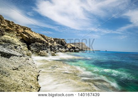 25 may 2016. Cape Greco. Views of the sea and cliffs of Cape Greco. Cyprus.