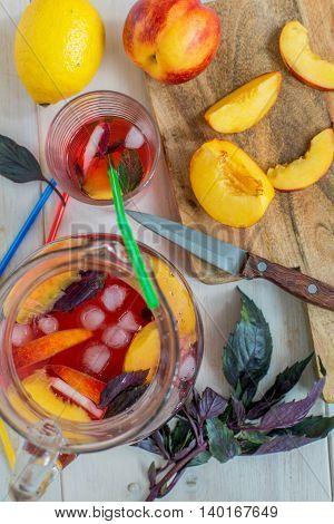 Lemonade Fruit And Purple Basil.
