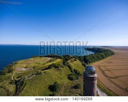 Lighthouse at Kap Arkona, Island of Ruegen, Germany