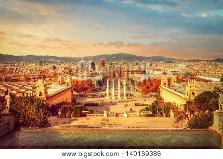View Of The Center Of Barcelona
