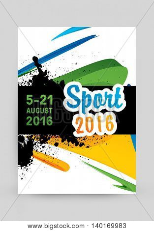 Summer sport 2016, Design for brochure, website, book or flyers.