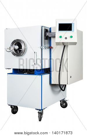 new vacuum oven on a white background