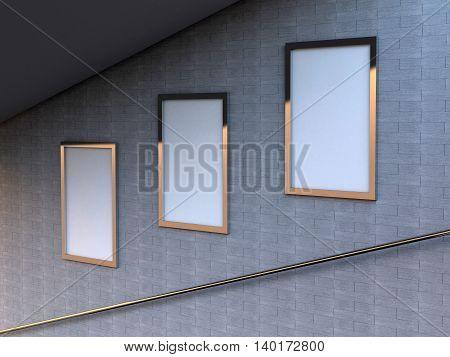 3D Rendering Blank Signs