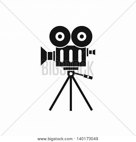 Camcorder icon in simple style isolated on white background. Video symbol