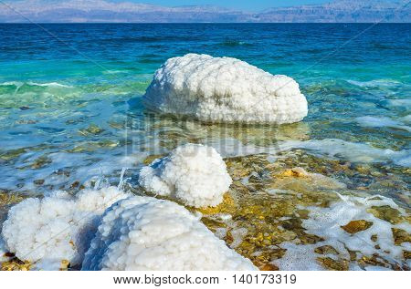 The Dead Sea was one of the world's first health resorts famous for its balneological properties Ein Gedi Israel.