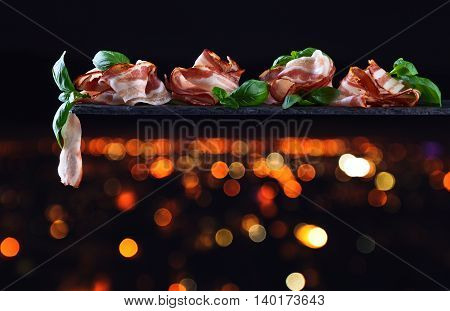 Bacon With Green Basil